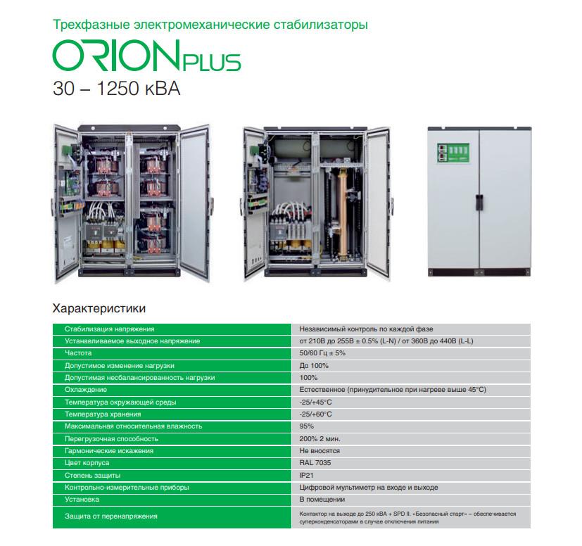 Трехфазный стабилизатор напряжения Orion Plus 160